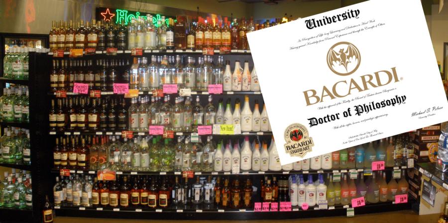 PhD - Bacardi - bottles rum