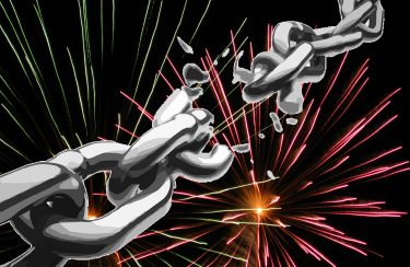 fireworks and chains