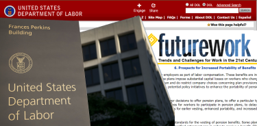 Department of Labor  Pension Portability